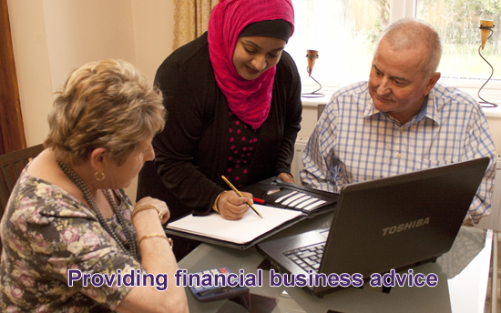 Providing finance and business advice