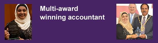 Multi-award winning accountant
